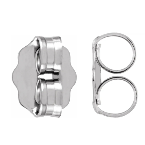 14k White Gold Replacement Push Backings