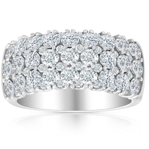 2 3/4Ct Lab Grown Diamond Wedding Ring 10k White Gold ((G-H), SI(1)-SI(2))