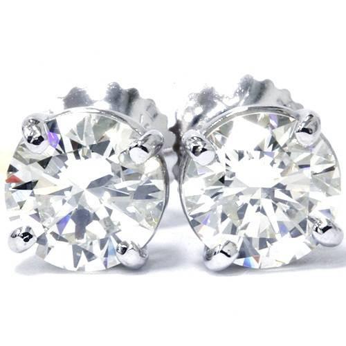 3/8Ct Lab Grown Diamond Studs 14k White Gold ((H-I), SI(2)-I(1))