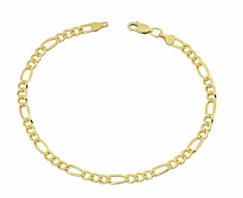 14k Yellow Gold-filled Figaro Link Bracelet (8.5 inch)