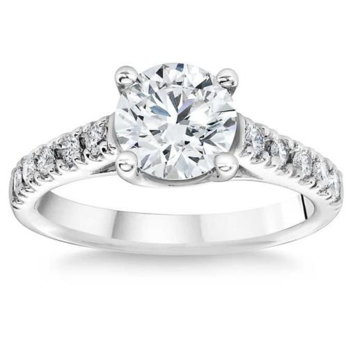 1 3/4 Ct Diamond Engagement Ring Lab Grown 14k White Gold (I/J, VS1-VS2)