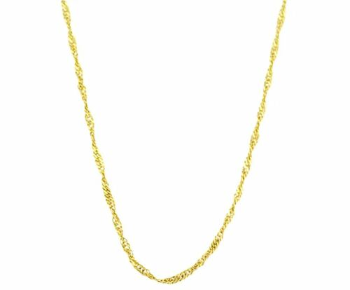 10k Yellow Gold Singapore Chain Necklace (18 inches)