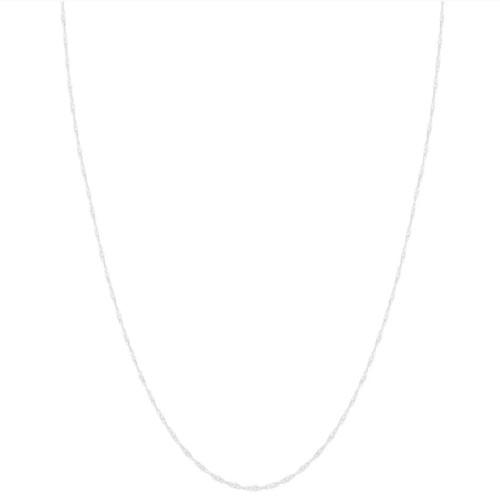 10k White Gold 1-millimeter Singapore Chain (18-inch)