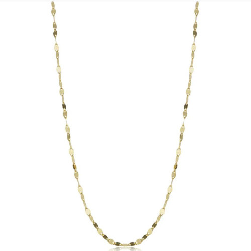14k Yellow Gold 1.9-mm Mirror Flat Link Chain (18 inches)