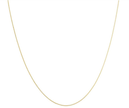 14k Yellow Gold 0.7 millimeters Cable Necklace (18 inches)