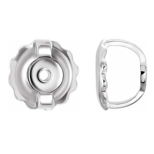 Replacement 14k White Gold Screw backings