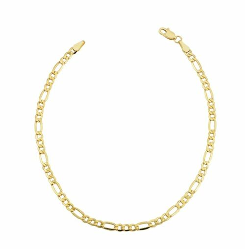 10k Yellow Gold 3.5-millimeter Figaro Bracelet