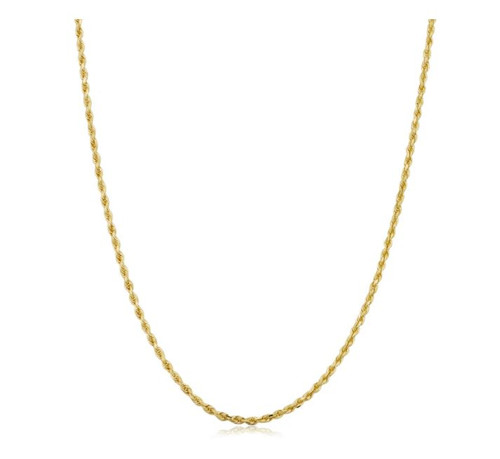 10k Yellow Gold 1.5-mm Semi Solid Rope Chain Necklace