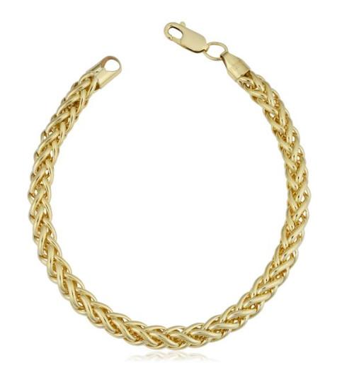 14k Yellow Gold Filled 6-mm Bold Franco Link Chain Bracelet