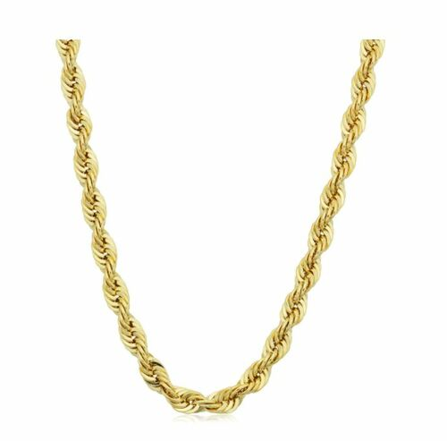 14k Yellow Gold Filled Men's 4.2mm Rope Chain Necklace