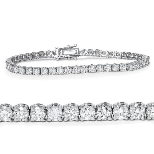 "5 Ct T.W. Diamond Tennis Bracelet 18K White Gold 7"" (G, I1-I2)"