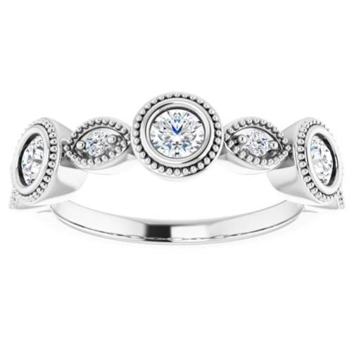 3/4Ct Diamond Wedding Ring Anniversary Band in White or Yellow Gold