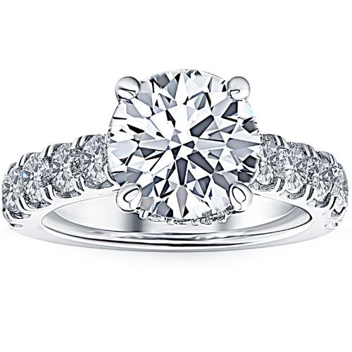 2 3/4 Ct Diamond Engagement Ring 14k White Gold (G/H, SI2-I1)