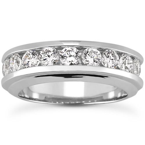 Men's 1 3/4 Ct T.W. Diamond Ring 10k White Gold (H/I, I1-I2)