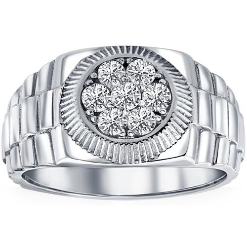Men's 3/4 Ct T.W. Diamond Ring 14k White Gold (H/I, SI2)