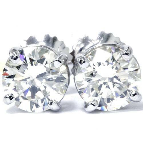 1/2Ct TDW Diamond Studs 14K White Gold (I-J, I2/I3)