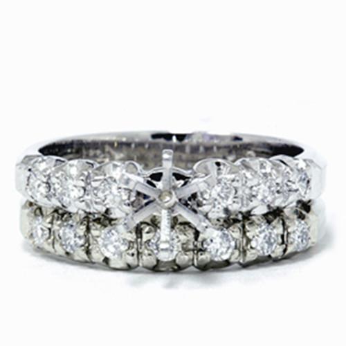 1/2ct Diamond Semi Mount Engagement Wedding Ring Set (G/H, I1)