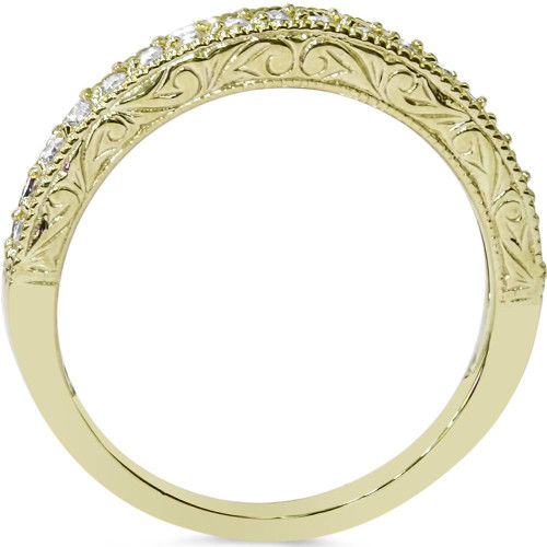 1/2ct Yellow Gold Diamond Vintage Wedding Ring 14K (G/H, I1-I2)
