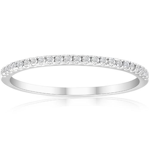 1/5ct Diamond Wedding Band 10K White Gold (G/H, I1-I2)