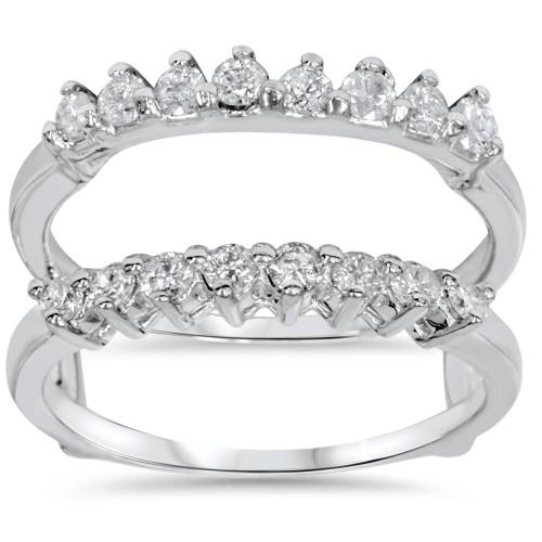 5/8ct Diamond Guard Ring Enhancer 14K White Gold (G/H, I1)