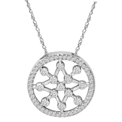1/3ct Circle Star flake Dreamweaver Diamond Pendant 14K (H, I1)