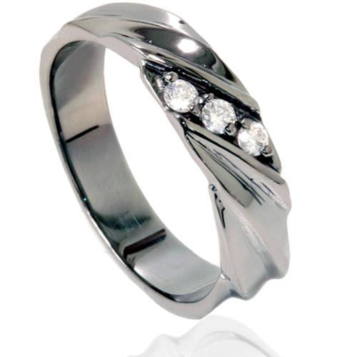 Diamond Ring 14K Black Gold (G/H, I1)