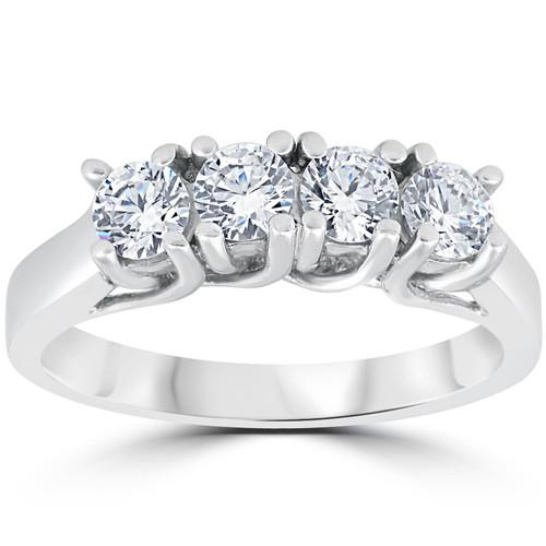 1 1/2ct Diamond Wedding Ring Enhancer 14K White Gold (G/H, SI2-I1)