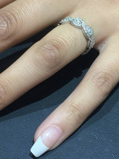 3/4ct Marquise & Diamond Stackable Infinity Eternity Ring 14K White Gold (H/I, SI2-I1)