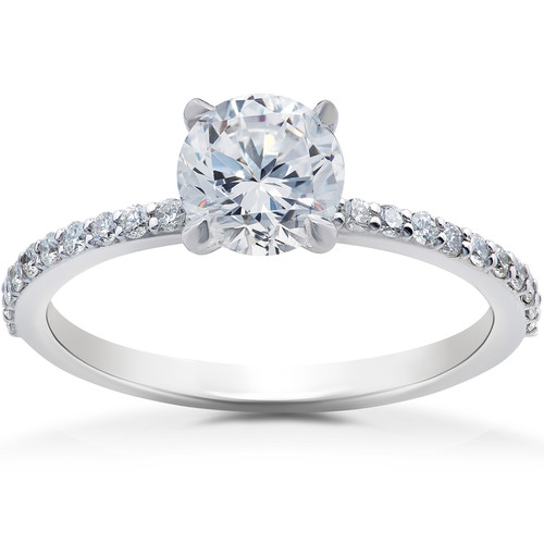1 1/4 ct Lab Grown Diamond Sophia Engagement Ring 14k White Gold (F, VS)
