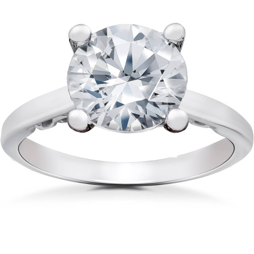 2 ct Lab Created Eco Friendly Diamond Gabriella Engagement Ring 14k White Gold (G, SI1)