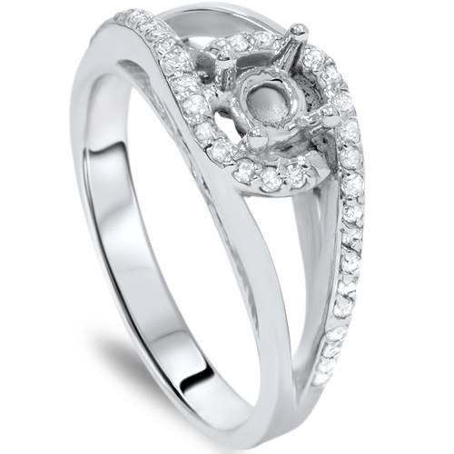 1/3ct Diamond Fancy Engagement Ring Setting 14K Mount (G/H, I2)