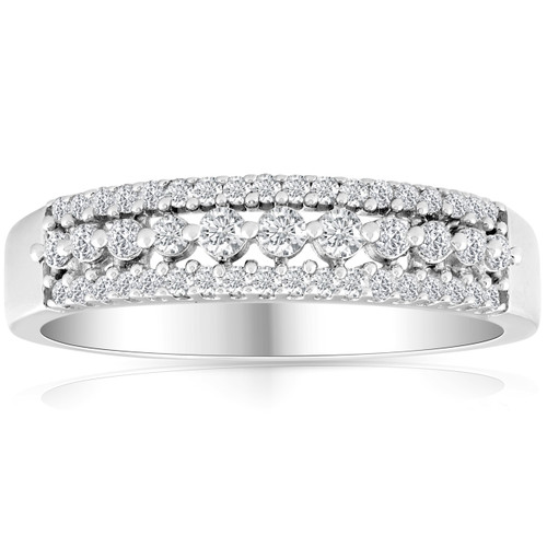 1/3ct Diamond Anniversary Ring 10K White Gold (G/H, I2-I3)