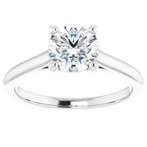 1ct Round Diamond Solitaire 14k Rose & White Gold Engagement Ring (G/H, SI)