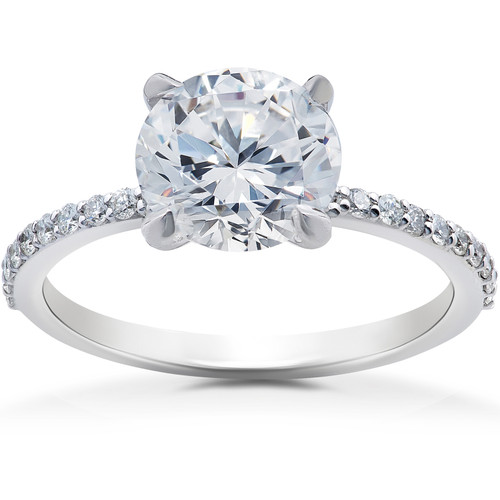 2 1/4 ct Lab Grown Diamond Sophia Engagement Ring 14k White Gold (F, VS)