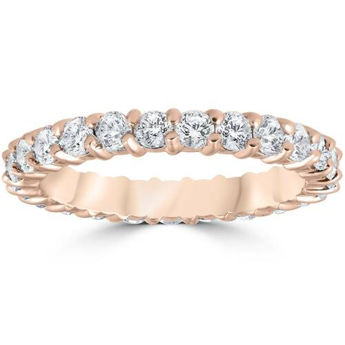 1ct Diamond Eternity Ring 14k Rose Gold ((G-H), SI)