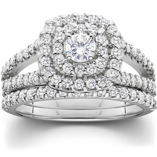 Cushion Halo Diamond Engagement Wedding Ring