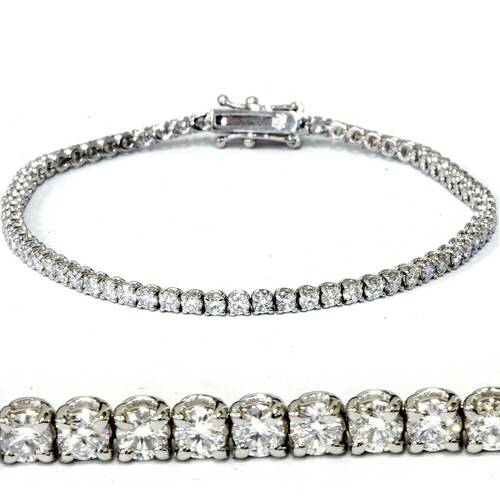 "3 ct Diamond Tennis Bracelet 14k White Gold 7"" Lab Grown (((G-H)), VS/SI)"
