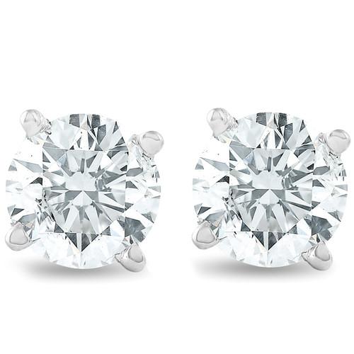 1.00CT Platinum Lab Created Diamond Studs Screw-Back (G, SI)