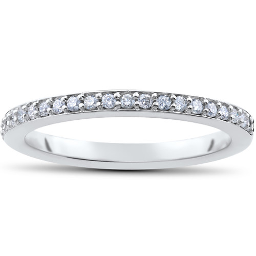 1/4ct Lab Created Diamond Wedding Ring in 14k White Yellow Rose Gold or Platinum (((G-H)), SI(1)-SI(2))