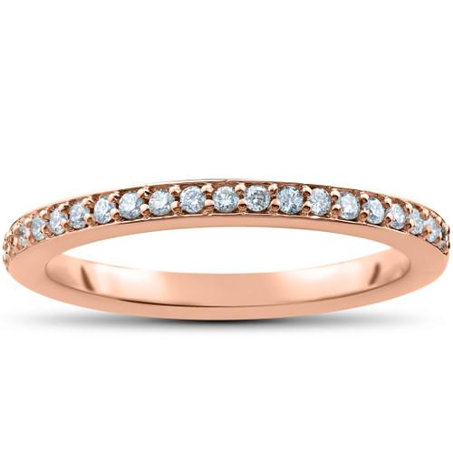 1/4ct Stackable lab Grown Diamond Wedding Ring (F, VS)