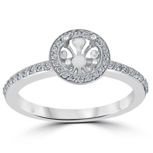 1/3ct Diamond Engagement Ring Semi Mount 14K White Gold (H/I, I1-I2)