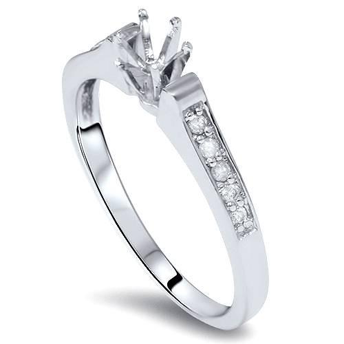 Diamond Engagement Semi Mount Ring Setting White Gold (G/H, I2)