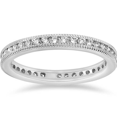 1/2ct Channel Diamond Eternity Wedding White Gold Ring (G/H, I2)