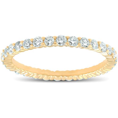 1ct Diamond Eternity Ring 14K Yellow Gold (G/H, I2)