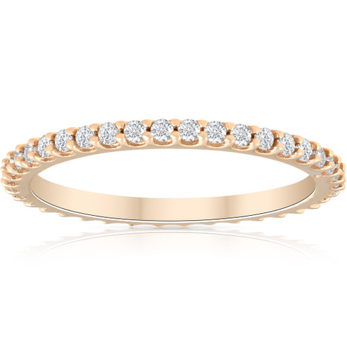 1/3ct Diamond Eternity Ring Available in 14k White, Yellow or Rose Gold (H/I, I1-I2)