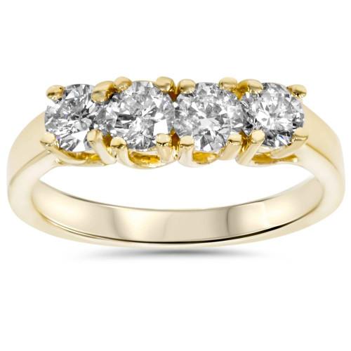 1ct Diamond Yellow Gold Curve Wedding Ring Enhancer (H, SI)