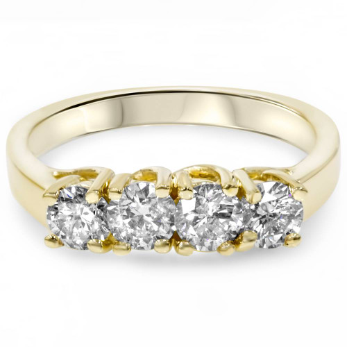 1ct Diamond Yellow Gold Curve Wedding Ring Enhancer (H, SI)