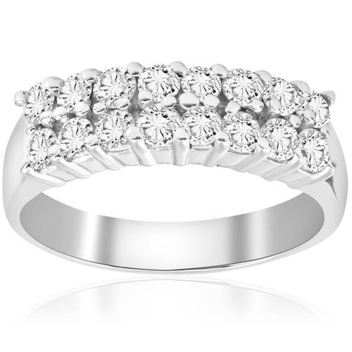 1 5/8ct Diamond Anniversary Wedding White Gold Ring 14K (G/H, I1)