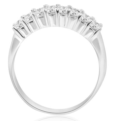 1 5/8ct Diamond Anniversary Wedding White Gold Ring 14K (G/H, I1)
