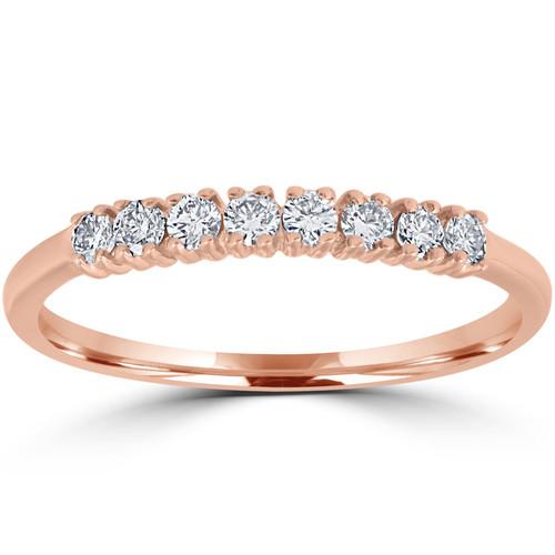 Diamond Wedding Ring 14K Rose Gold (G-H, I1)
